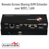 Avenview HDM-SHAREPRO-IP Remote Screen Sharing KVM extender cez WIFI / LAN